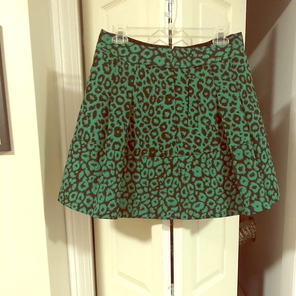 3d68804ab89d Banana Republic Skirts | Green Leopard Print Skirt | Poshmark